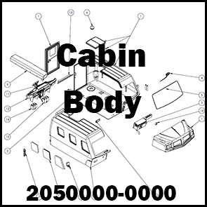 CABIN BODY ASSEMBLY: 2050000-0000
